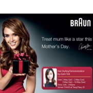 Braun Hairstyling demonstration